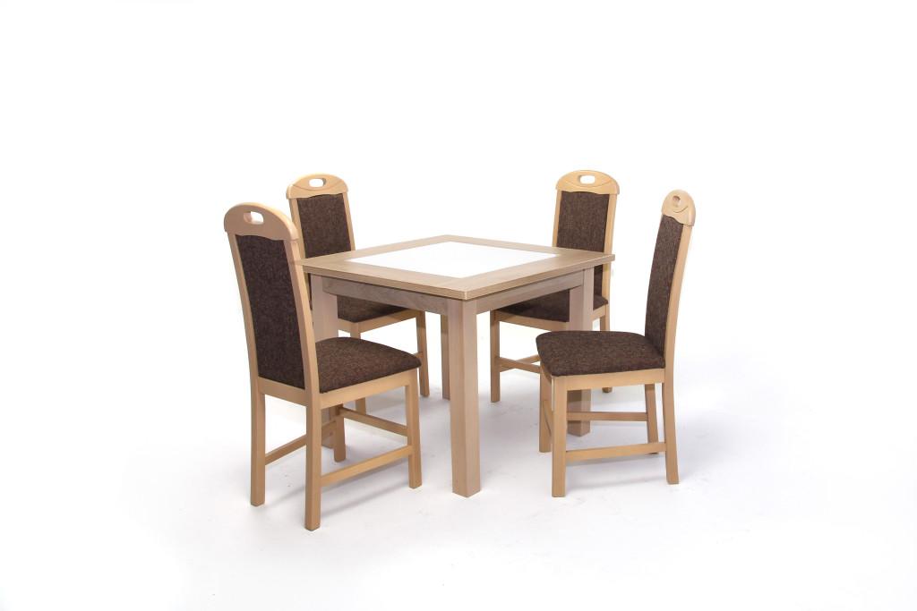 Kis Stella asztal 90×90 es Világos Avellino + 4 db Viki szék